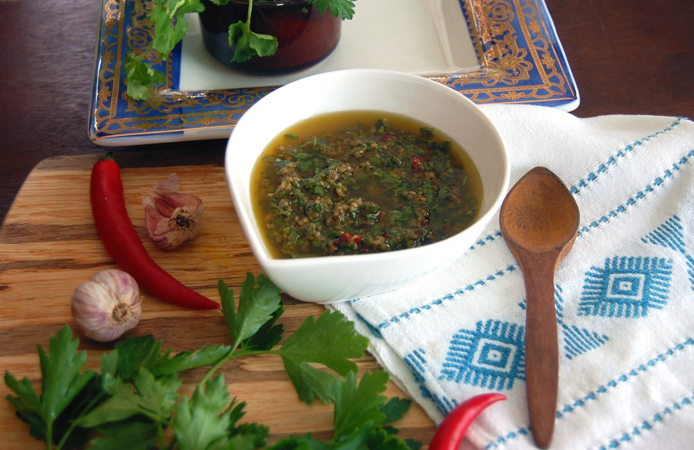 CHIMICHURRI MARINADE &DIPPING SAUCE - {Made with Arvinda's Argentine Chimichurri}