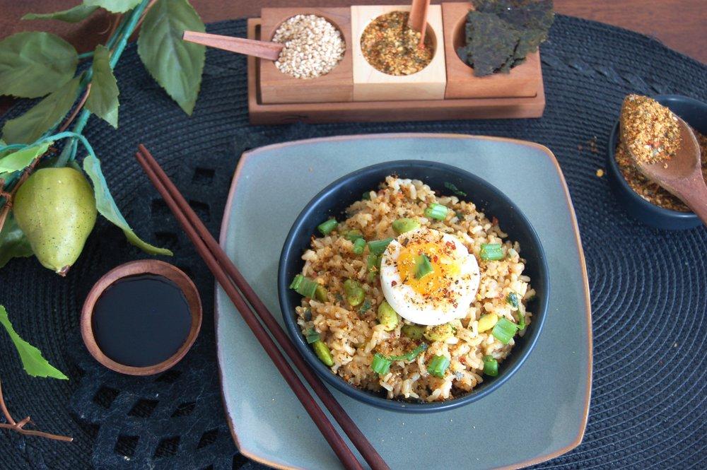 TORAGHASHI RICE BOWL - {Made with Arvinda's Tokyo 7-Spice}