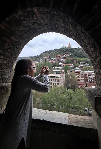 An overlook in Tbilisi