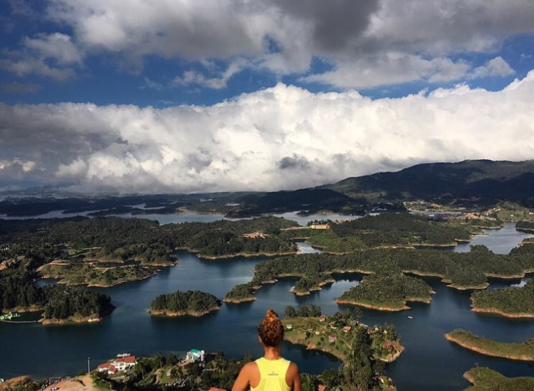 The view of Guatapé from the top of La Piedra del Peñol