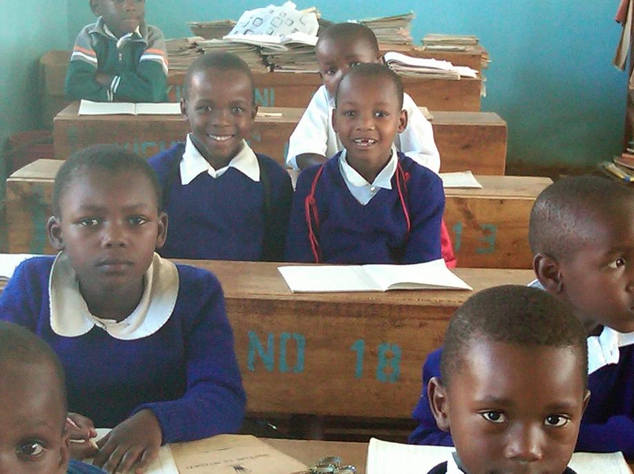 Schoolchildren at their desks