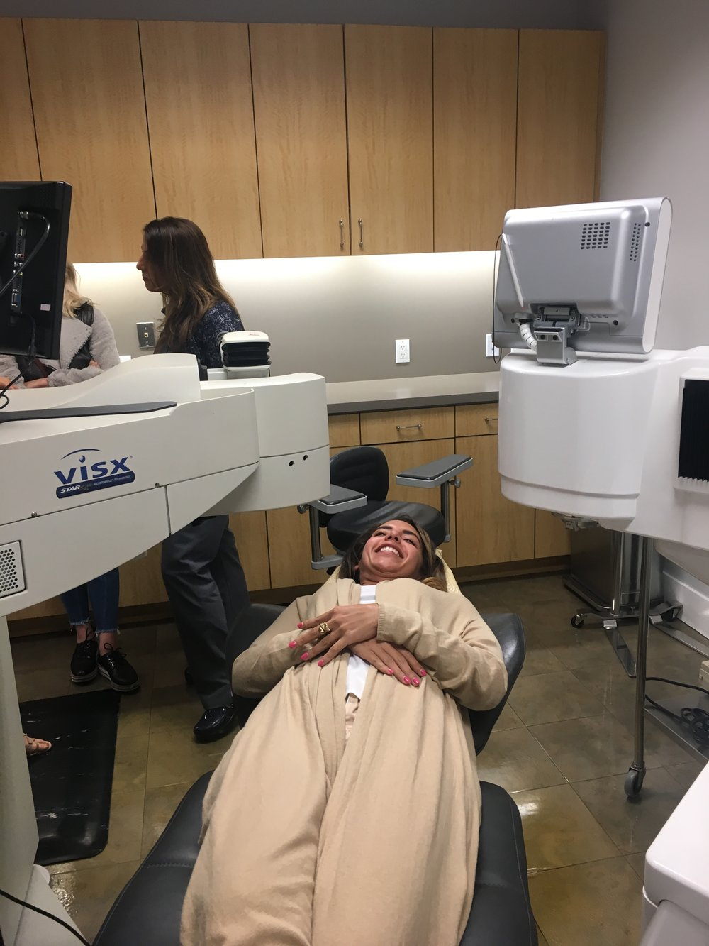 Maloney Vision Institute's operating chair