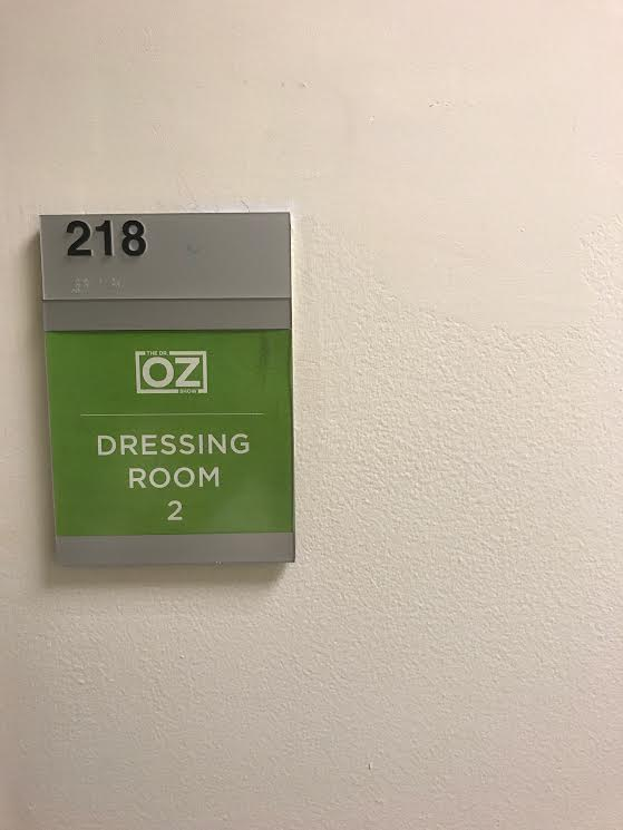 I had my own dressing room! This was part of my job each show day to escort all of the guests that were going to be on the show to their rooms! To have that happen to me was a surreal moment.