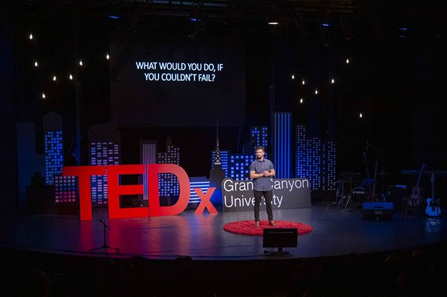 What could you do if you didn't fail? ⠀ _⠀ Zander Fryer helped us to reframe our thinking. He challenged us to not permit fear to hold us back from reaching bigger and higher goals. Thank you Zander for sharing your ideas and inspiring us to strive for more. ⠀ _⠀ @zanderfryer #TEDxGrandCanyonUniversity