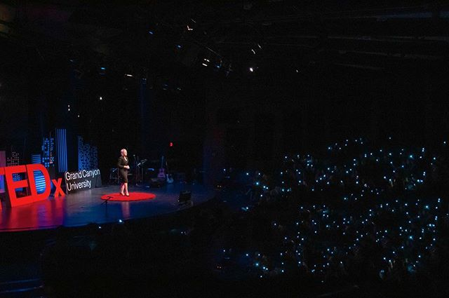 We were so blessed to have Kristy Morgan who included the audience in her amazing talk. With the audience's  participation, she showed the importance of doing a good deed and the impact that that can have for those around you as well as yourself.  #tedxgrandcanyonuniversity