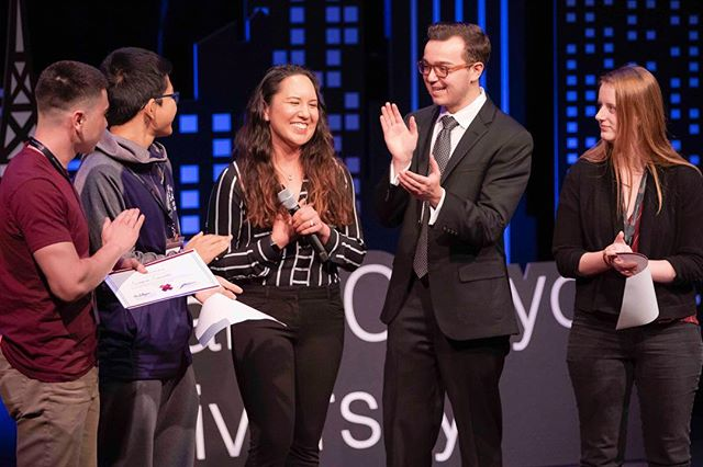 During the main event marketing director, Lana DeGuzman awarded the top 3 winners of our scavenger hunt. Which was held the day before the event. Congrats to the winners and thank you to the participants!  #tedxgrandcanyonuniversity