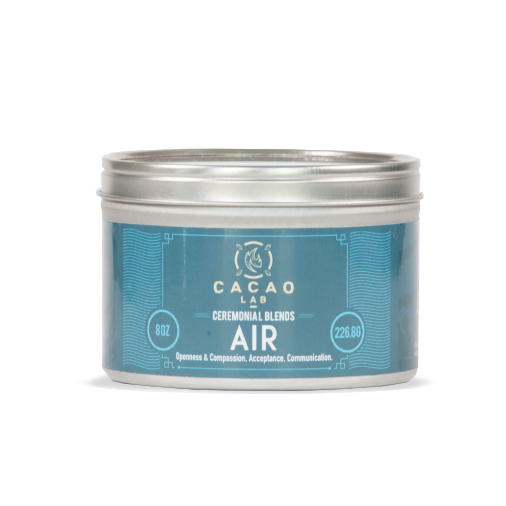 Air Cacao Blend:   Would you like to be more compassionate with yourself or perhaps a significant other? Air blend is great for helping you overcome conflict and for working with pranayama exercises.