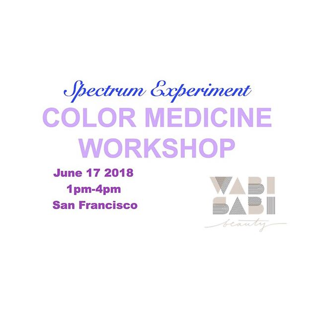 SAN FRANCISCO 💘 June 17 at 1pm at @wabisabibeauty Spectrum Experiment will be hosting it's first West Coast COLOR MEDICINE WORKSHOP ✨🌈✨ tickets are for sale at the link in bio ✨🌈 space is limited ✨🌈✨ hope to see you there 🙏💗✨ #roxiedarling #wabisabibeauty #colormedicine #sanfranciscohaircolor