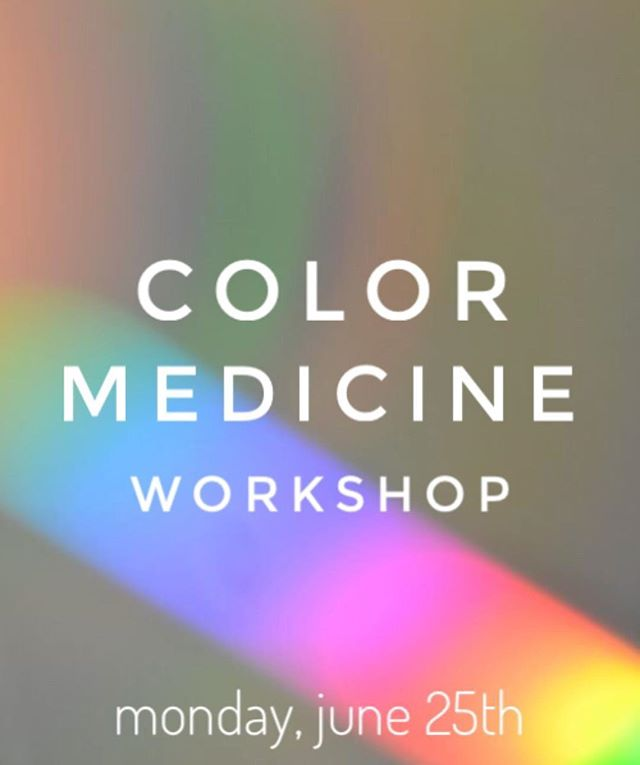 TOMORROW ✨🌈✨ at @suitecarolinesalon there are still a few tickets available for the Interactive Color Medicine Workshop ❤️🧡💛💚💙💜💖 hope to see you there NYC 💘