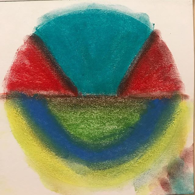 I'm going to be sharing some very cool news soon but for now here is a channeled Medicine Wheel from this morning ~ 7/18 color Medicine ~ I feel there is a current collective dream state (turquoise) that is supported and being held by a very reality based lust for life (bright red) and really the way we can allow for those two to connect is by collective support (green and blue) that is surrounded by all individuals being aware of their power and their unique place in the world (yellow) ~ This is a new kind of Wheel channeled this morning through the use of pastels ~  #lovechannel #colorhealing #colormedicine #colormedicinewheel #channeledart #primarycolors