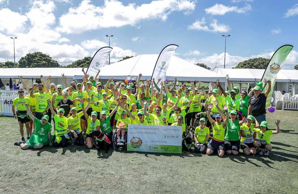 Achilles NZ group Photo from the 2018 Wellington Round the Bays