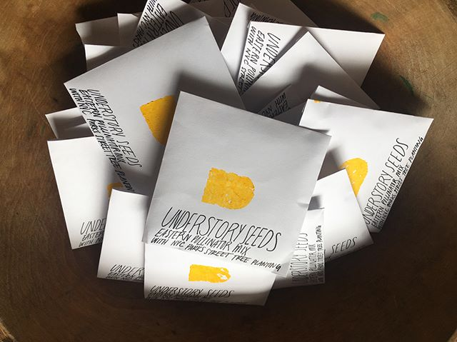 Take some @under_story home with you! We have Understory blend Eastern pollinator blend seeds and limited run Understory totes available until 6PM! #natureishome #understoryny