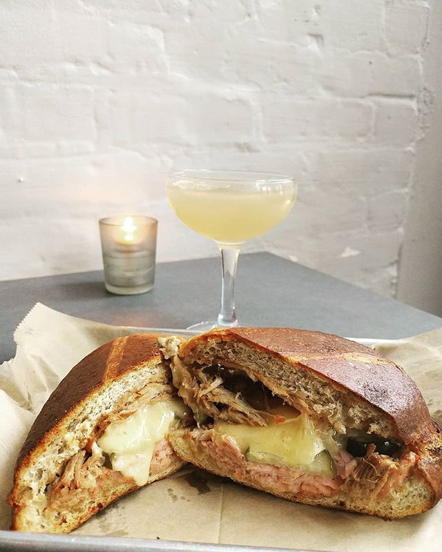 Cubanos and discounted daiquiris, available Mondays + Tuesdays! Come hang with us and pretend you're in a cozy Havana café. We'll play along  #gristmill #gristmillbk #parkslope #brooklyn#brooklyneats  #eeeeeats #f52grams#yahoofood #eater #feedfeed #chefsfeed#foodintheair #foodandwine#chefsofinstagram #foodporn #newforkcity#nytimes #foodandwine  #eatupnewyork #instafood#farmtotable #nyceats#eaterny #buzzfeast #nyceeeeeats#grubshotsnyc #eatingnyc