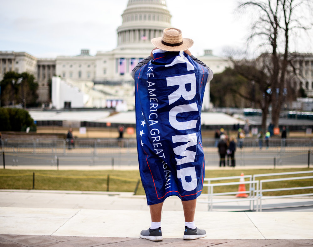 President Trump supporter at the Capitol [January 19]