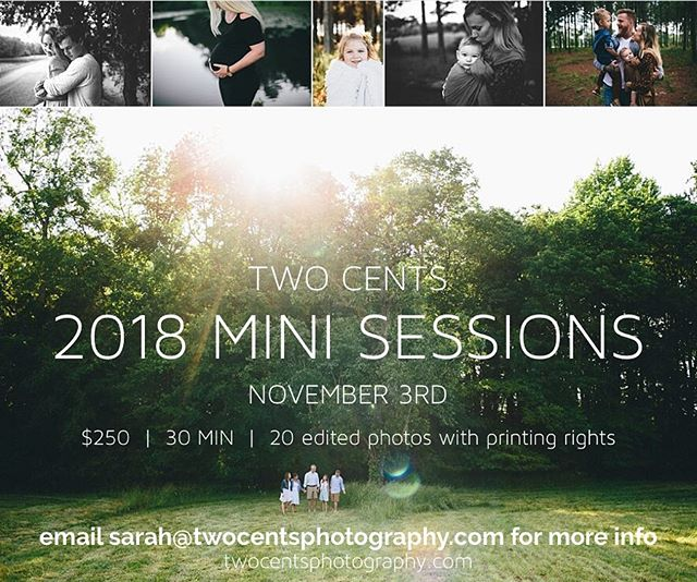 MINIS are happening!!! Email me for info!!