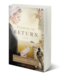 PROMISE TO RETURN  (The PROMISE OF SUNRISE, BooK 1) - When World War II breaks out, Miriam Coblentz's peaceful Amish world is turned upside down. Two worlds collide in this unforgettable debut novel, providing a fasci­nating and rare look into Amish culture during World War II. While Henry is battling enemies across the ocean, Miriam struggles between her devotion to Henry and her love of the Amish way of life.