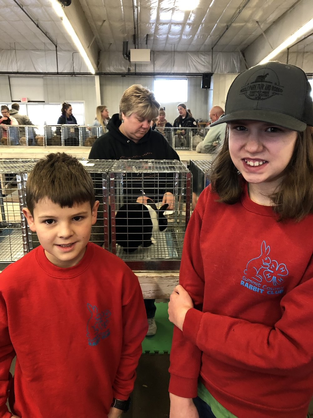 This photo is from a  while ago, but both Jacob and Zaria are enjoying their 4H rabbit husbandry club.