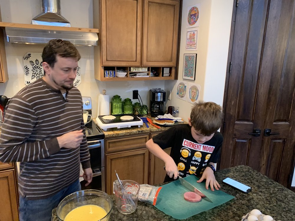 Jacob is now an omelette making machine!