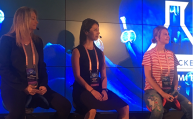 The all female VC panel:   Tanya Marvin-Horowitz, Alexandra Bause and   Ekaterina Gianelli