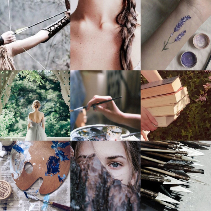 Feyre 1. - I wanted to try and capture the innocence of Feyre here, and the fact that her life of fear and struggle for survival has led to her sole ambition being the absence of that fear and stress. Does that make sense? Who knows.