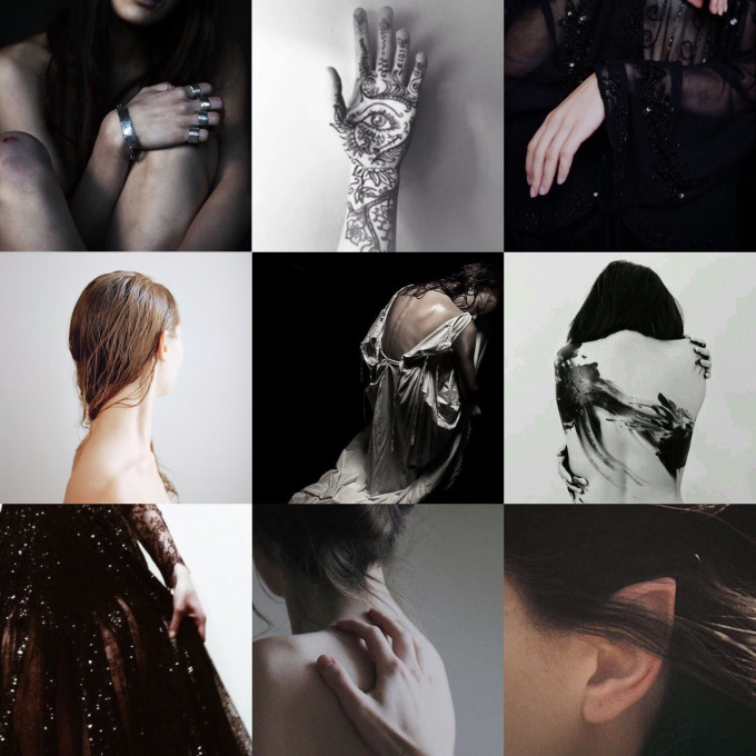 Feyre 2. - Feyre is the only one who gets multiple aesthetics across the series here because her character changes so much. Here I wanted to capture more of the struggle, and the guilt, and the post-traumatic stress that she overcomes in ACOMAF.