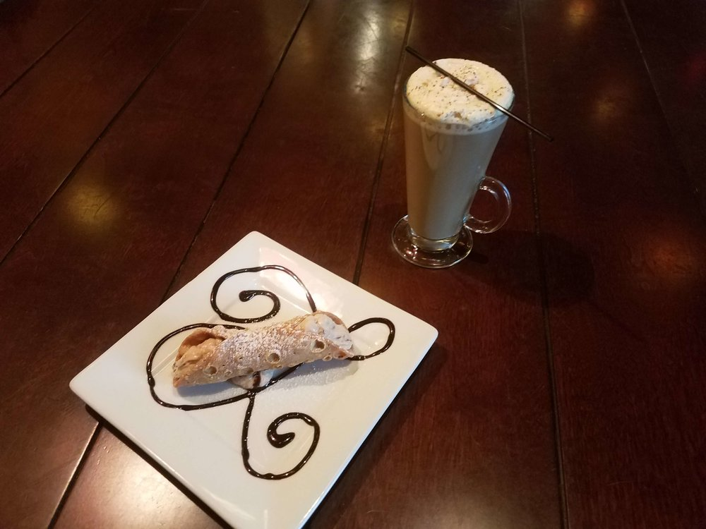Cannoli and Butterrum Coffee