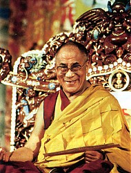 His Holiness the Dalai Lama teaching at Lerab Gar in Southern France, 2000