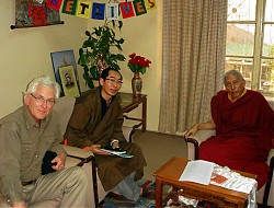Lelung Rinpoche meets with the Prime Minister of Tibetan Government in Exile (Kalon Tripa), Professor Samdhong Rinpoche (March 2006)