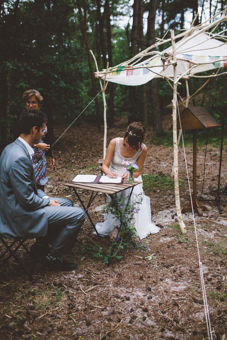 bohemian wedding in the woods | photo by 88forever | Inspire Styling