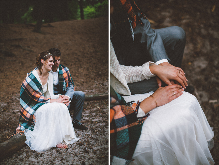 bohemian wedding in the woods - campfire | photo by 88forever | Styling by Inspire Styling Weddings