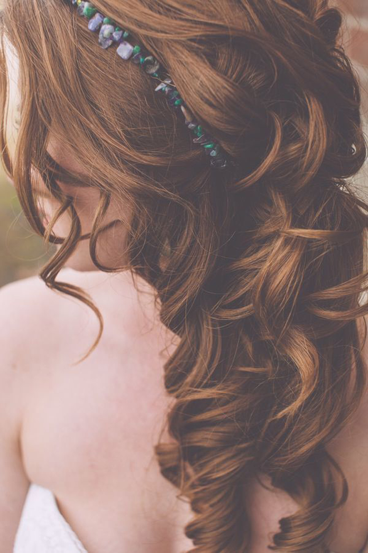 gemstones hairpiece - bridal shoot - photo by Mackensey Alexander