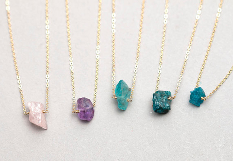 Raw Crystal Necklaces - Layered and Long - Etsy