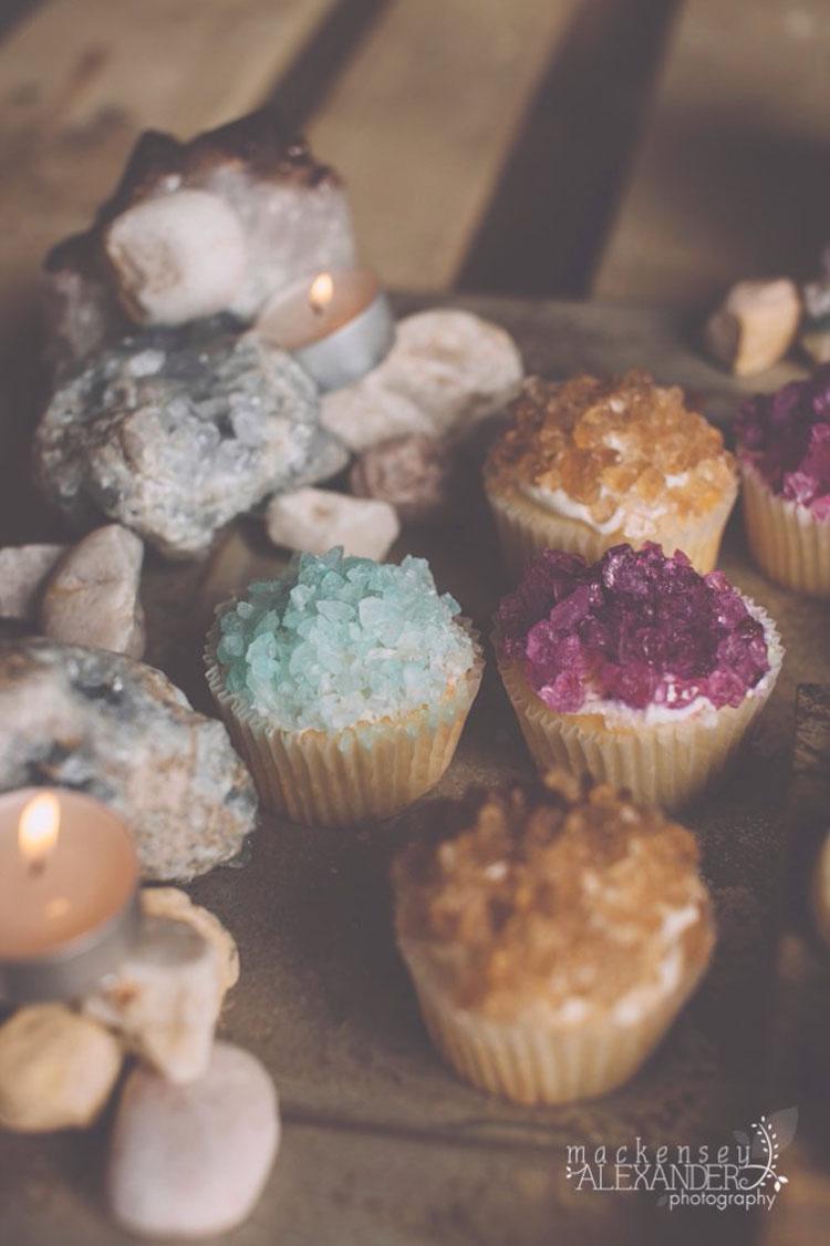 rock candy quartz cupcakes - Mackensey Alexander