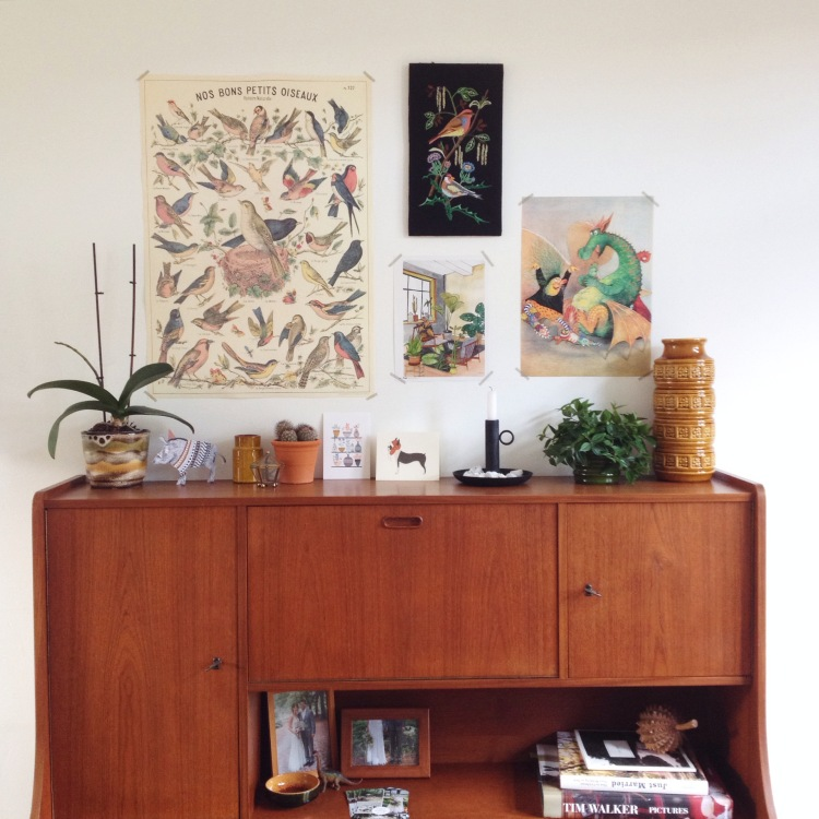 vintage cabinet, Inspire Styling home | @annevanmidden on instagram