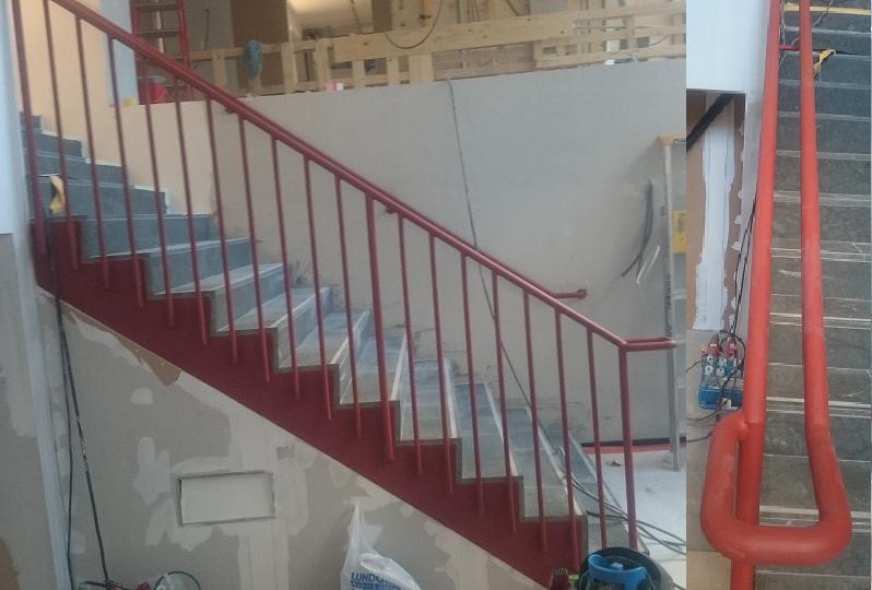 Trappa och trappräcke för SEB Odenplan