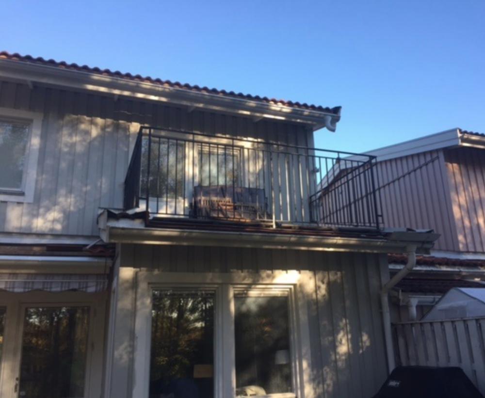 Balkongräcken till villa