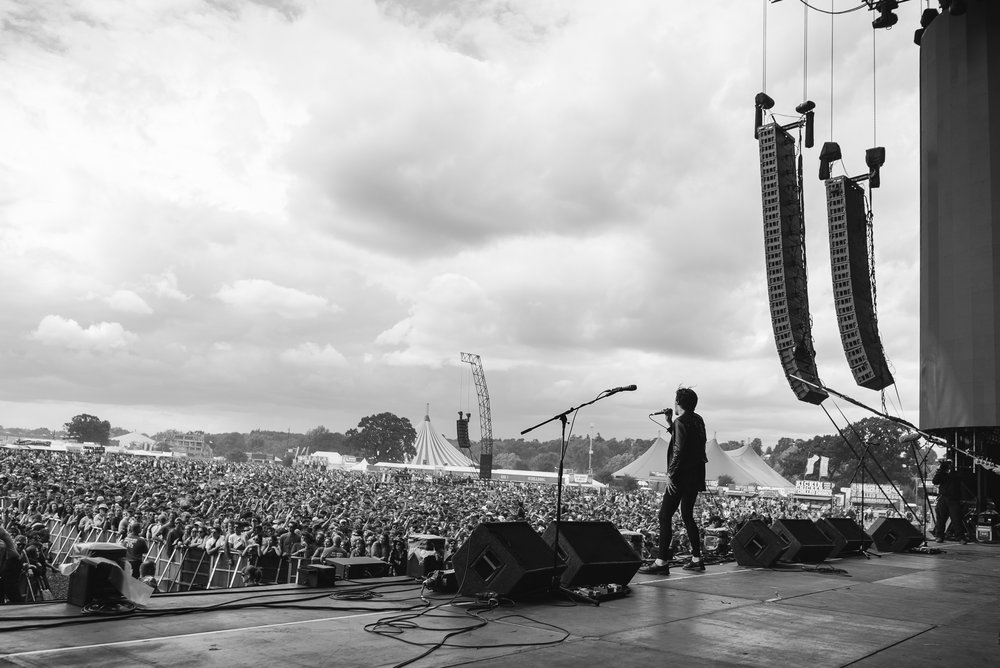A few days after playing a string of small, sweaty venues… Creeper played main stage at Reading festival