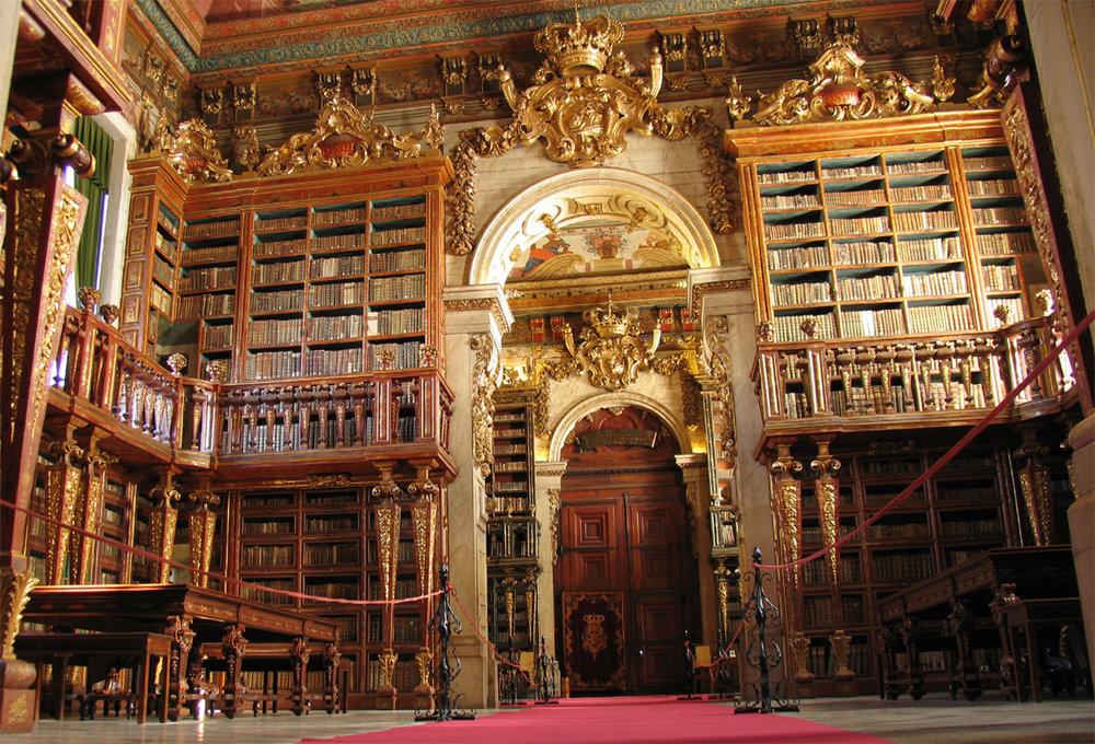 La bibliothèque de l'Université de Coimbra est l'une des plus belles au monde