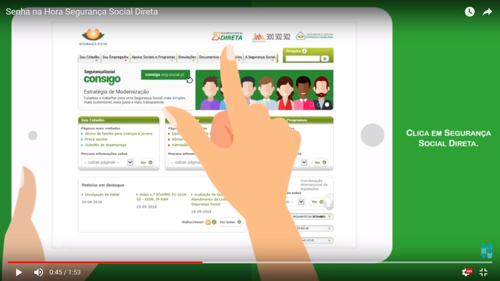 Comment obtenir ou récupérer le mot de passe d'accès au site de la sécurité sociale au Portugal, Segurança Social Direita ?