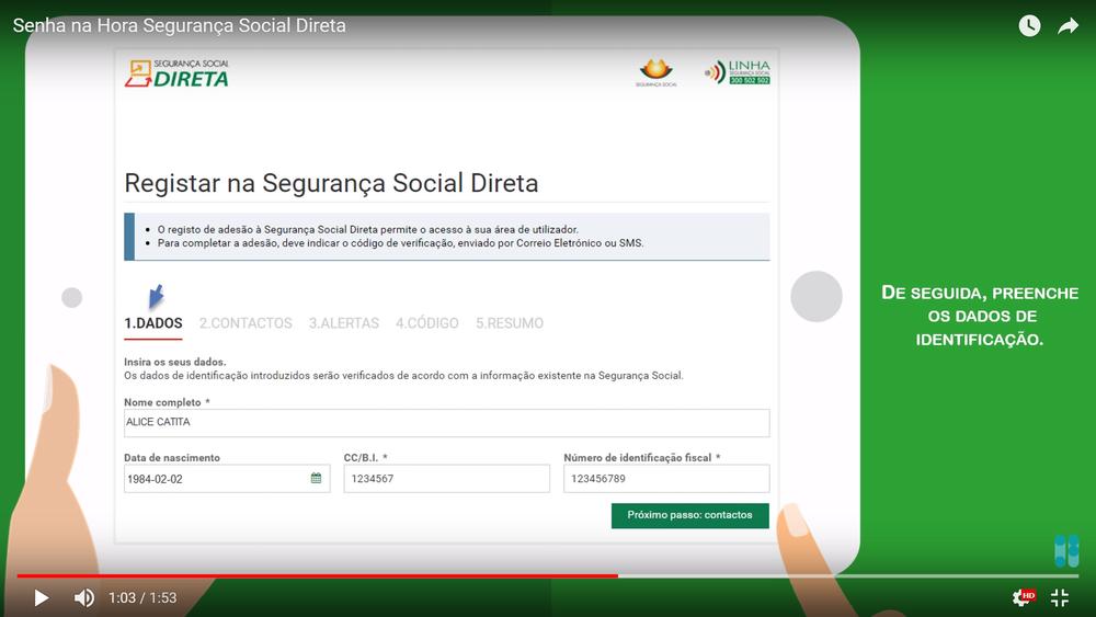 Comment obtenir ou récupérer le mot de passe d'accès au site de la sécurité sociale au Portugal, Segurança Social Direita