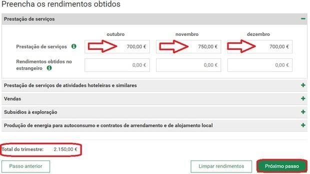 declaration freelance Portugal