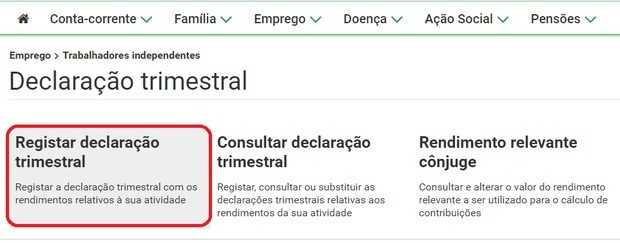 declaration social security freelancer portugal