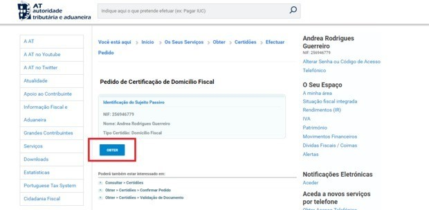 proof of address portugal
