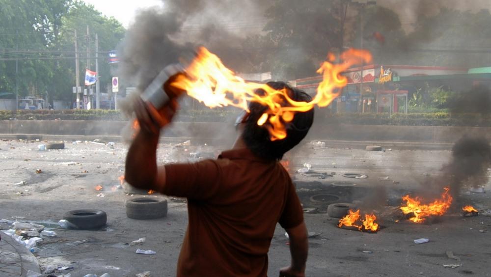 La Police fait face à des manifestations qui deviennent violentes - Image d'illustration