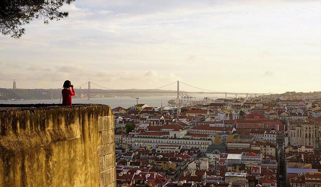 La vue sur Lisbonne depuis le Chateau Sao Jorge est splendide, même en hiver