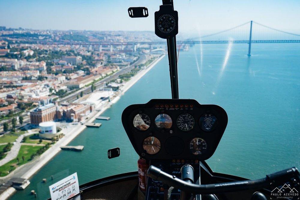 Vue de Lisbonne depuis un hélicoptère