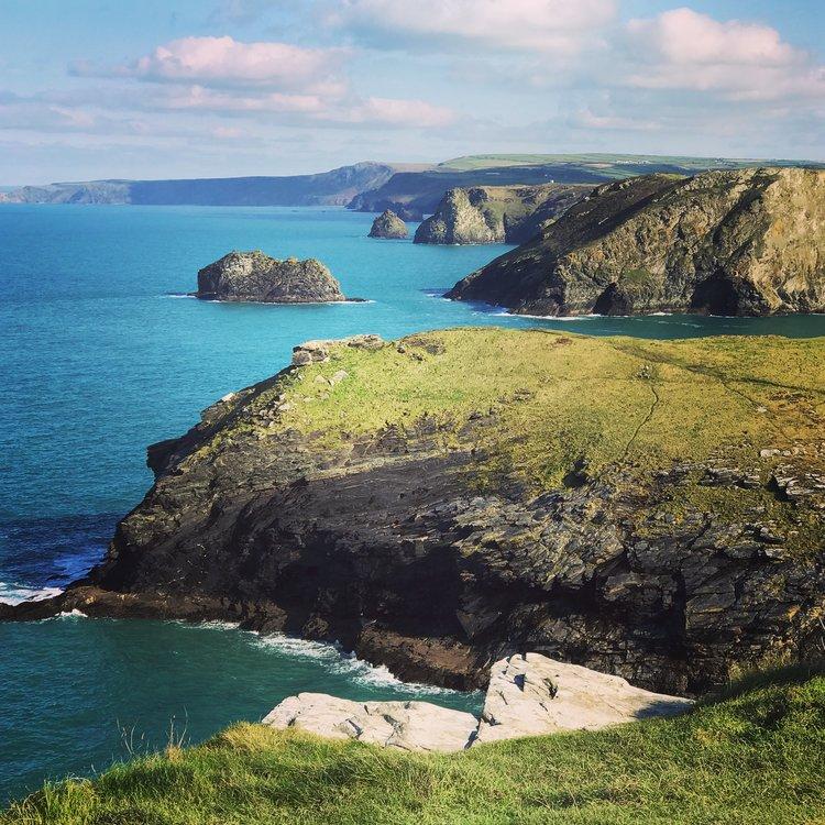 Spectacular coastline of North Cornwall
