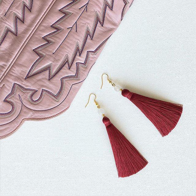 Coming Soon: new tassel earrings just in time for football season! #tasselearrings #tailgating #earrings