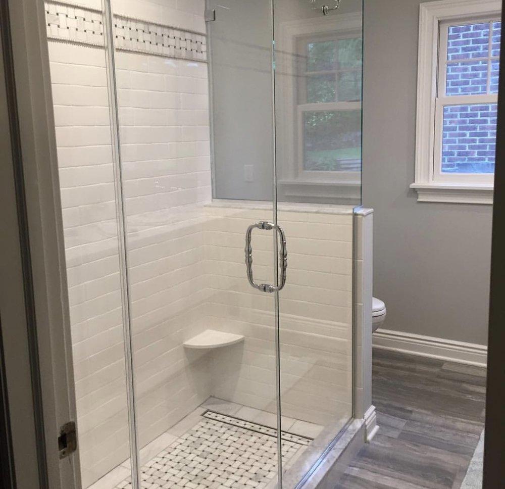 Hall Bath Renovation - Upper Saddle River, NJ