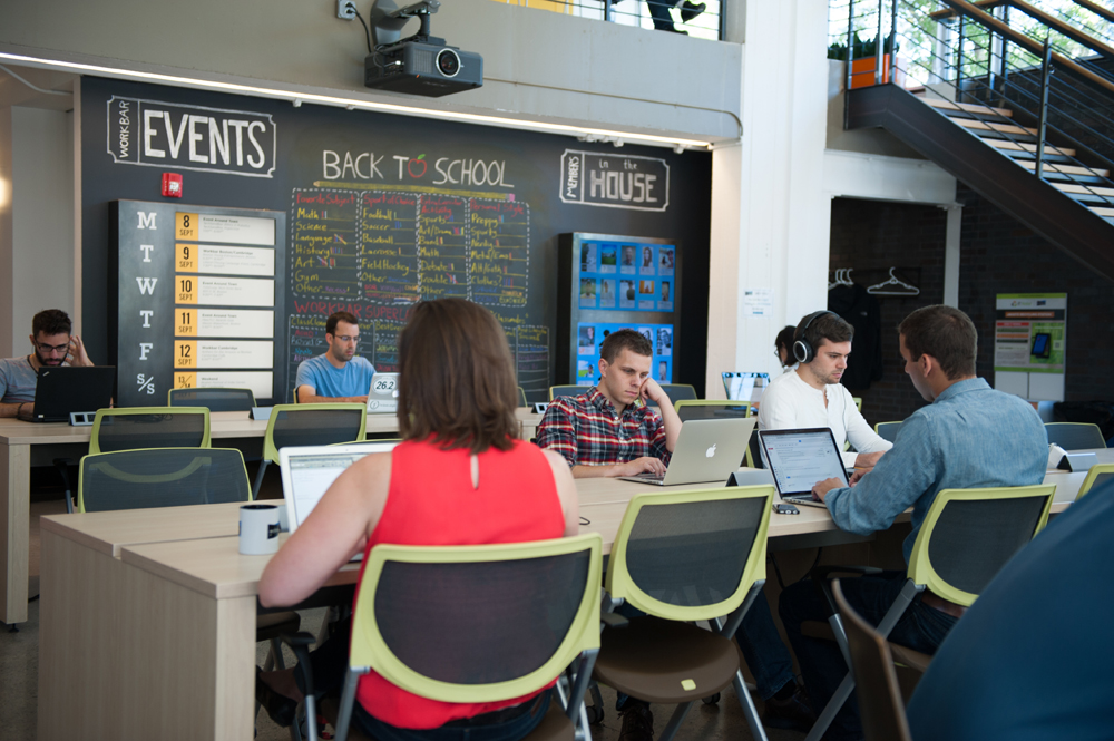 HOT DESKS - Our open coworking spaces for teams and independent professionals have all the amenities you need to be productive – without the prohibitive cost.All Workbar locations offer a variety of workspaces, from standing desks to couches and nooks.